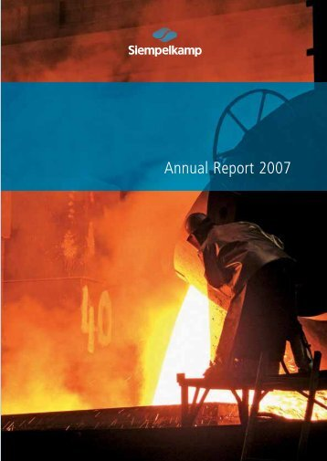 Annual Report 2007 - Siempelkamp