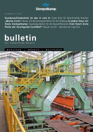 Bulletin 1/ 2013 - Siempelkamp
