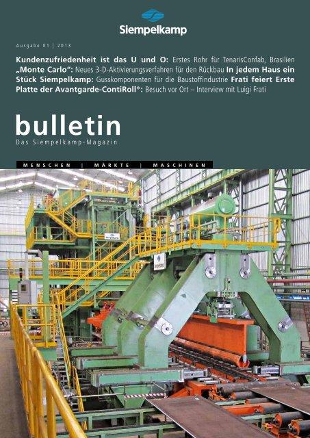 Bulletin 1/ 2013 - Siempelkamp