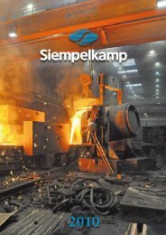 Annual report 2010 - Siempelkamp