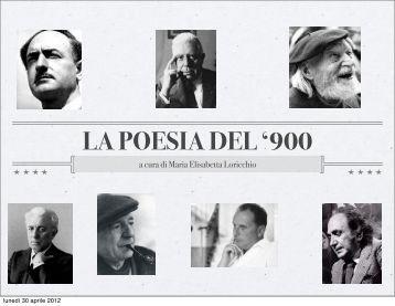 """LA POESIA DEL '900 - """"GABRIELE D'ANNUNZIO"""" - Gorizia"""