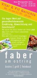 Vital & Fit Gerichte - Faber Feinkost