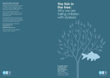 The f ish in the tree: Why we are failing children with dyslexia