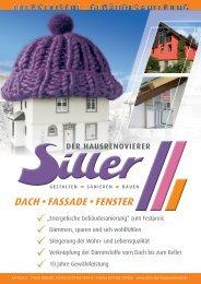 Energetische Gebäudesanierung - Siller der Hausrenovierer