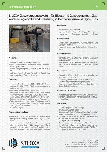 verdichtungsmodul und Steuerung in Containerbauweise, Typ GCKV