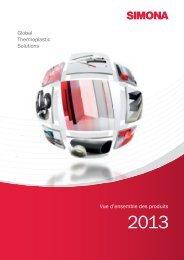 Global Thermoplastic Solutions Vue d'ensemble des ... - Simona AG