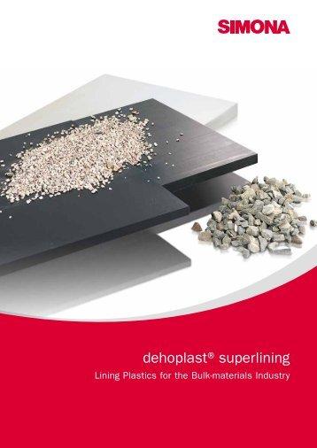dehoplast®superlining - Simona AG