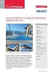 Jacuzzi extérieur en plaques alvéolaires PP-C-UV - Simona AG