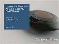 SimonsVoss Company Presentation - SimonsVoss technologies