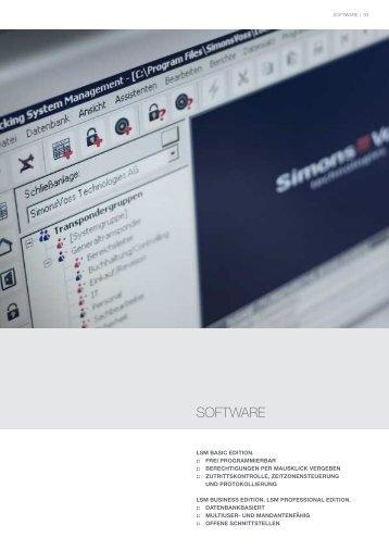 """Download Produktinformation """"Software"""" - SimonsVoss technologies"""