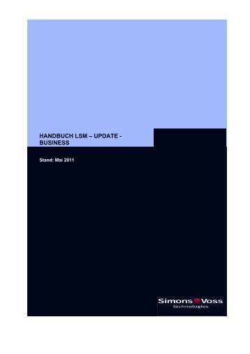 handbuch lsm ? update - business - SimonsVoss technologies
