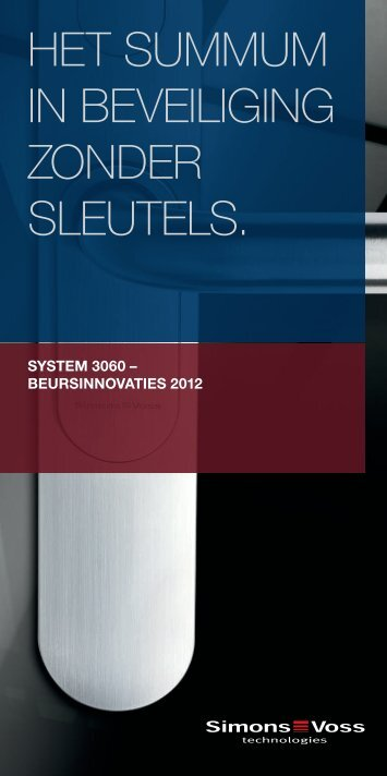 "Flyer ""Beursinnovaties 2012"" - SimonsVoss technologies"