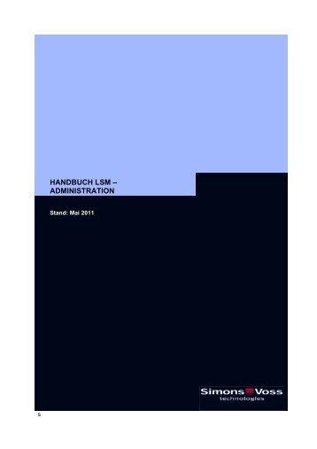 handbuch lsm ? administration - SimonsVoss technologies
