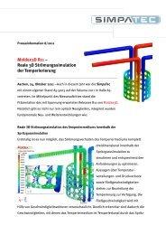 Moldex3D R11 – Reale 3D Strömungssimulation der ... - Simpatec