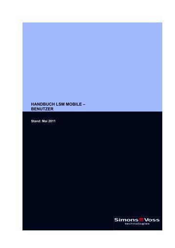 handbuch lsm mobile ? benutzer - SimonsVoss technologies