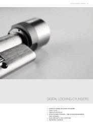 DIGITAL LOCKING CYLINDERS - SimonsVoss technologies