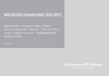 MICROSD.SAMSUNG.S23.NFC - SimonsVoss technologies