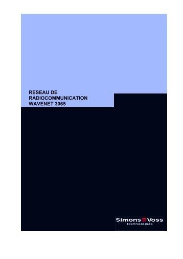 reseau de radiocommunication wavenet 3065 - SimonsVoss ...