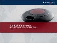digitales schliess - SimonsVoss technologies