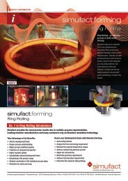 Simufact for Ring Rolling