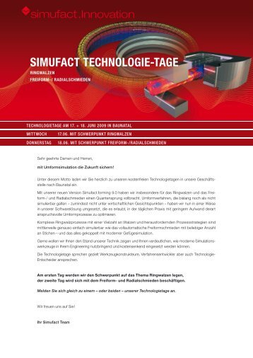 SIMUFACT TECHNOLOGIE-TAGE - Simufact Engineering GmbH