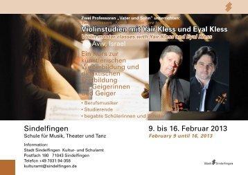 9. bis 16. Februar 2013 Sindelfingen - bei der Stadt Sindelfingen