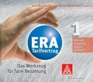 ERA-Tarifvertrag, das Werkzeug - IG Metall Singen - IG Metall ...