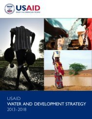 USAID WATER AND DEVELOPMENT STRATEGY 2013­2018