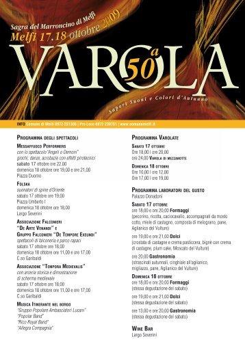 Programma e informazioni sulla Sagra della Varola ... - Basilicatanet
