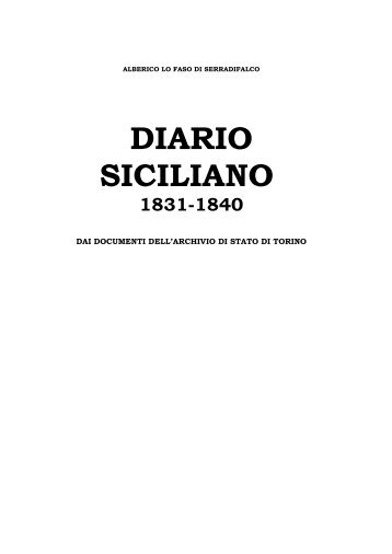 diario siciliano 1831-1840 - Mediterranea ricerche storiche