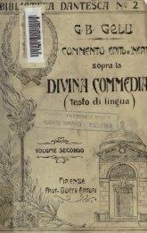 Commento edito e inedito sopra la Divina Commedia (testo di lingua)