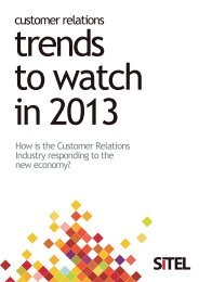 Customer Relations trends to watch in 2013 - Sitel