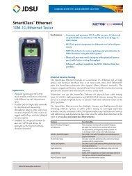 SmartClass™ Ethernet 10M-1G Ethernet Tester - JDSU