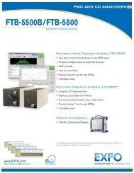 FTB-5500B-5800 PMD AND CD ANALYZERS - Sitel