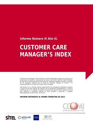 CUSTOMER CARE MANAGER'S INDEX Informe Número IX ... - Sitel