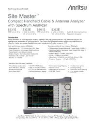 Compact Handheld Cable & Antenna Analyzer with Spectrum ... - Sitel