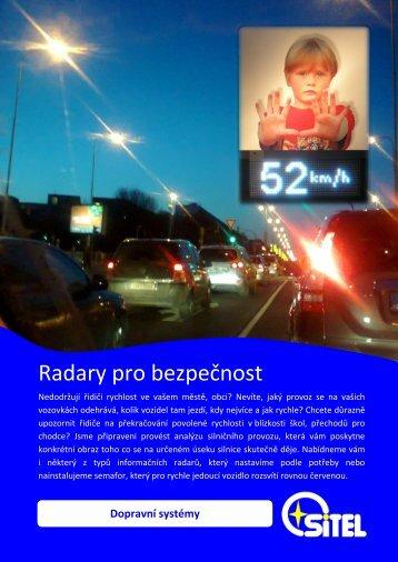 Radary pro bezpečnost - Sitel