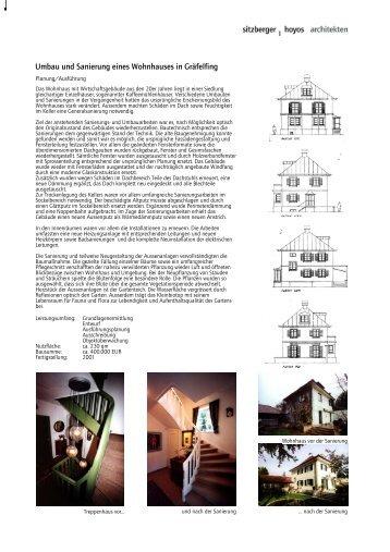 Umbau und Sanierung eines Wohnhauses in Gräfelfing - architekten ...