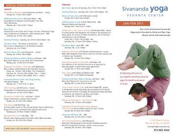JAN-FEB 2011 - Sivananda Yoga