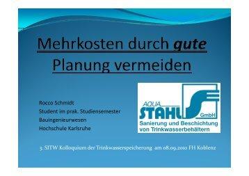 Vortrag von Aqua Stahl, 3. Kolloquium am 8.9.2010 - SITW