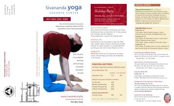 Holiday Party - Sivananda Yoga
