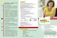 Flyer Infotag Wiedereinstieg - Sigrid Engelbrecht