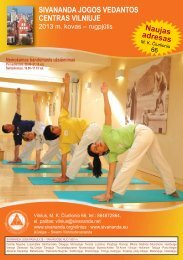2013 spaudai_Layout 1 - Sivananda Yoga