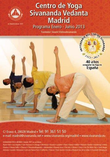folleto a disposición! - Sivananda Yoga