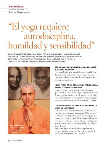 Entrevista a Swami Sivadasananda - Sivananda Yoga