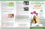 THAI 3 FOLD BROUCHER 2012 - Sivananda Yoga