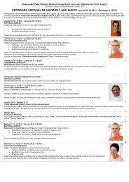 programa especial de navidad y año nuevo - Sivananda Yoga