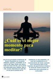 ¿Cuál es el mejor momento para meditar? - Centro de Yoga ...