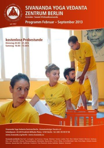 Programm Februar – September 2013 als PDF ... - Sivananda Yoga