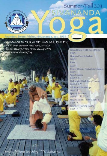 Summer/Fall 2011 - Sivananda Yoga